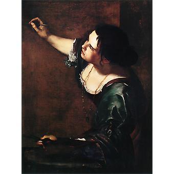 Autorretrato como alegoría de Artemisia gentileschi, 50x40cm