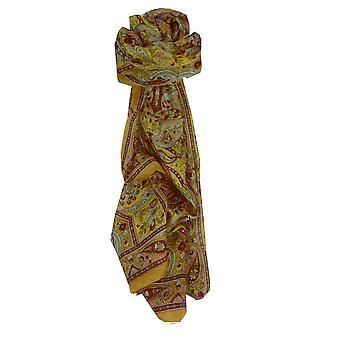 Mulberry Silk Traditional Long Scarf Diya Gold by Pashmina & Silk