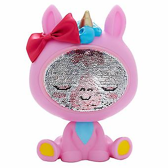 The Zequins Lumini Pink Unicorn Toy Figure Doll With Sequins