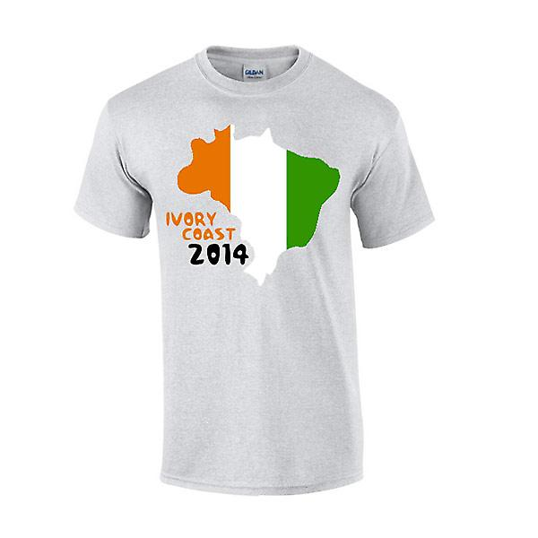 Côte d ' Ivoire 2014 Country Flag T-shirt (grau)