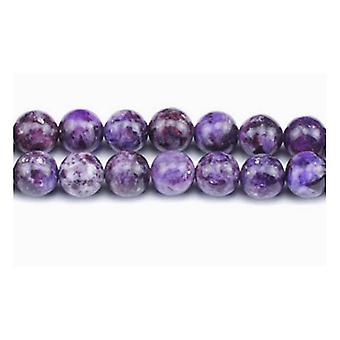 Strand 60+ Purple Lepidolite 6mm Plain Round Beads GS4988-1