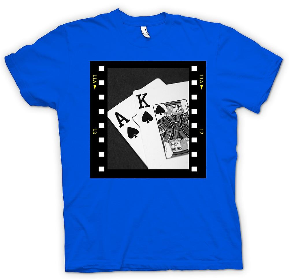 Hommes T-shirt - Poker Black Jack Ace roi