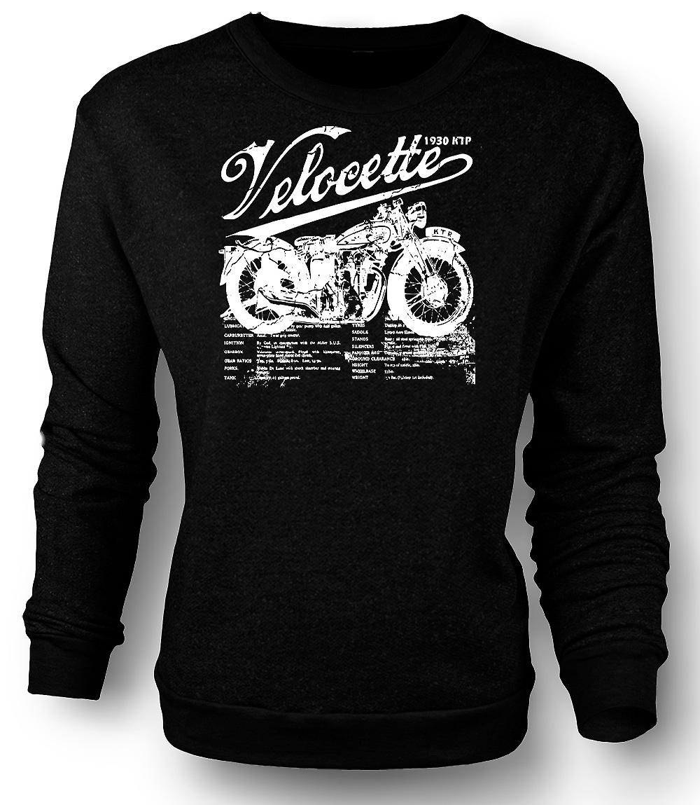 Herren Sweatshirt Velocette KTP 1930 - Classic Bike
