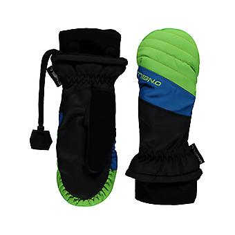 Oneill Fluor Green All Mountain Kids Snowboarding Mittens