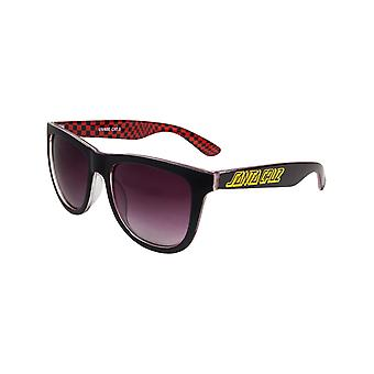 Santa Cruz Black-Check Fish Eye Sunglasses