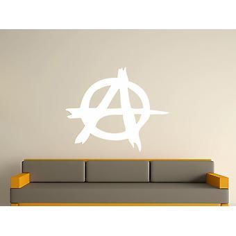 Anarchia Symbol Wall Art naklejki - biały