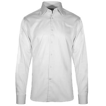 CC Collection Corneliani Corneliani White Long Sleeve Shirt