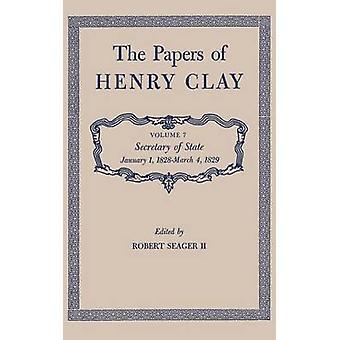 Le carte di Henry Clay Segretario di stato gennaio 1 1828March 4 1829 di argilla & Henry