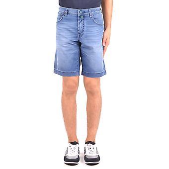Shorts de algodão azul Jacob Cohen