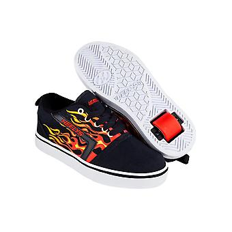 Heelys noir-rouge flammes GR8 Pro Kids One Wheel Shoe