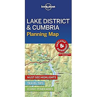 Lonely Planet Lake District & Cumbria Planning kaart (kaart)