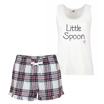 Little Spoon Pink Tartan Pyjamas