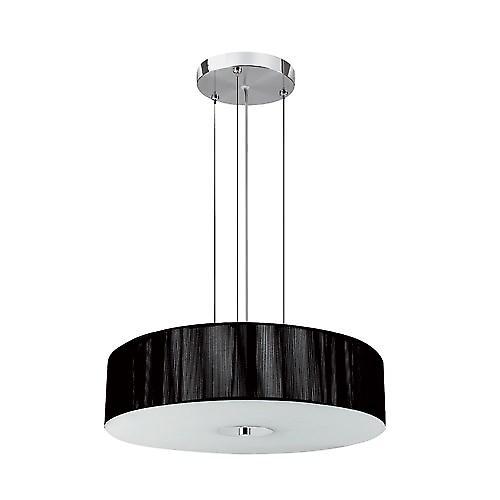 Searchlight 7156BK Pendant Black String 3 Light Opal Glass Diffuser