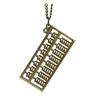 Metal Abacus Design Pendant and Chain