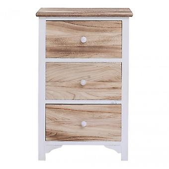 Rebecca furniture dresser nightstand 3 drawers natural wood Shabby Chic Vintage bathroom Furniture