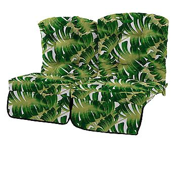 Gardenista® Water Resistant Palm Print Tufted 2 Seater Swing Seat Kissen