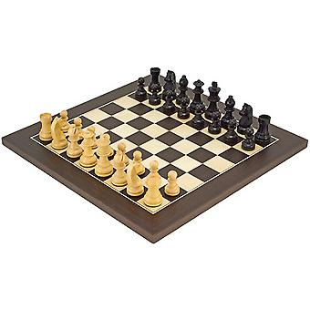Down Head Classic Wenge Deluxe Chess Set