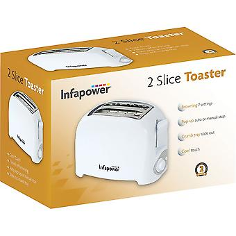 Infapower 2 Slice Toaster - White (Model No. X551)