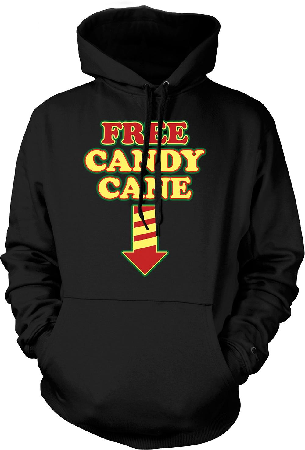 Mens Hoodie - Free Candy Cane - Funny Christmas