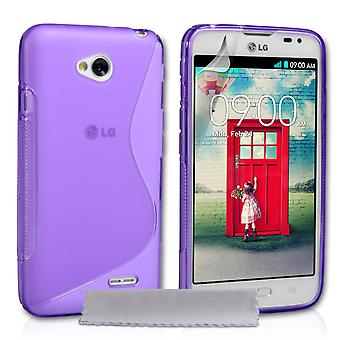 Caseflex LG L70 Silikon Gel SLine Case Purple