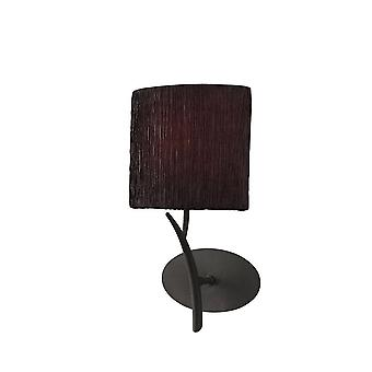 Mantra Eve Wall Lamp 1 Light E27, Antracite With Black Oval Shade
