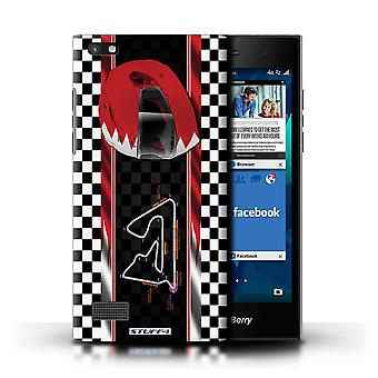 STUFF4 Case/Cover for Blackberry Leap/Bahrain/Sakhir/F1 Track Flag