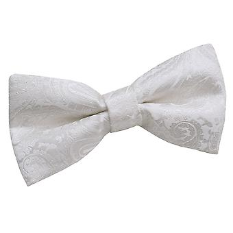Ivory Paisley Patterned Bow Tie