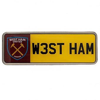 West Ham United numero distintivo di piastra