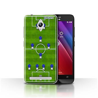 STUFF4 Case/Cover for Asus Zenfone Go ZC500TG/4-1-2-1-2/Blue/Football Formation