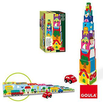 Goula Stackable Cubes Cars (Toys , Preschool , Babies , Stackable Toys)