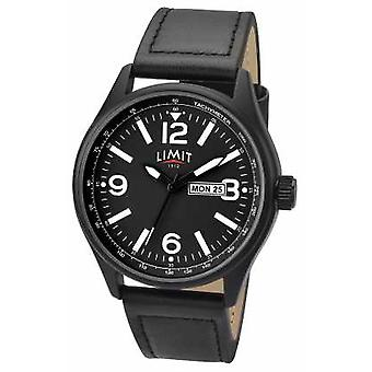 Limit Mens Pilot Black Strap Black Dial 5621.01 Watch