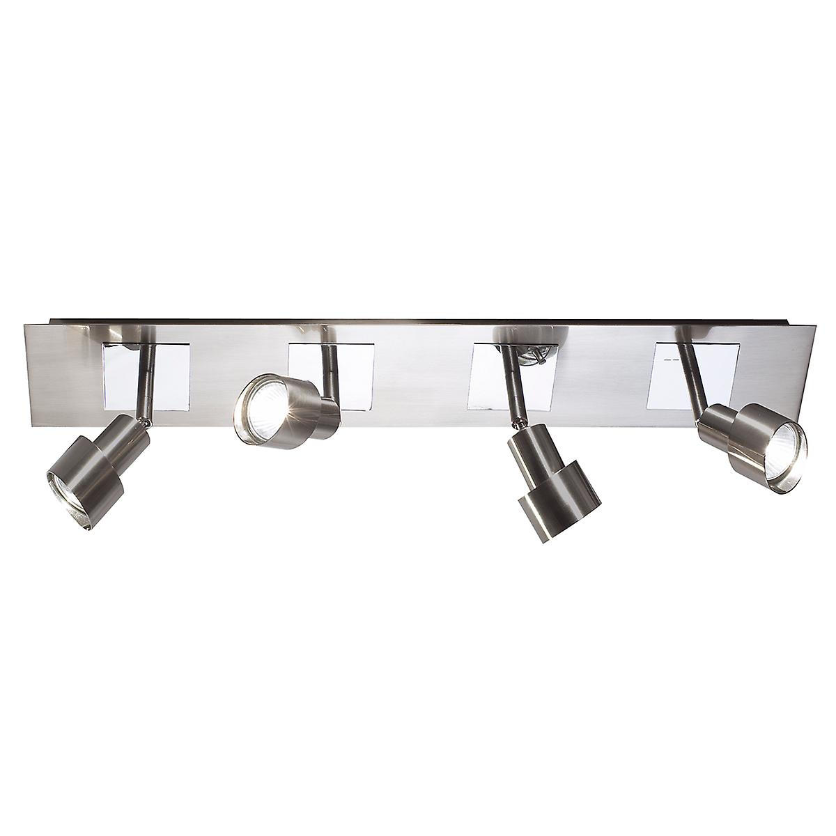 Dar FUT8446 Futura 4 Light Halogen Ceiling/Wall Spotlight Bar