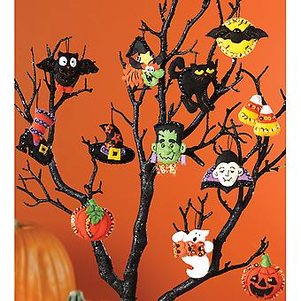 Halloween Ornaments Set Felt Applique Kit-3
