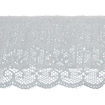 3 Tiered Ruffled Lace Trim 2-1/2