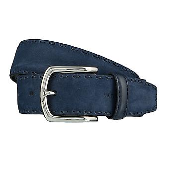 Windsor. Belts men's belts leather belt blue 4185