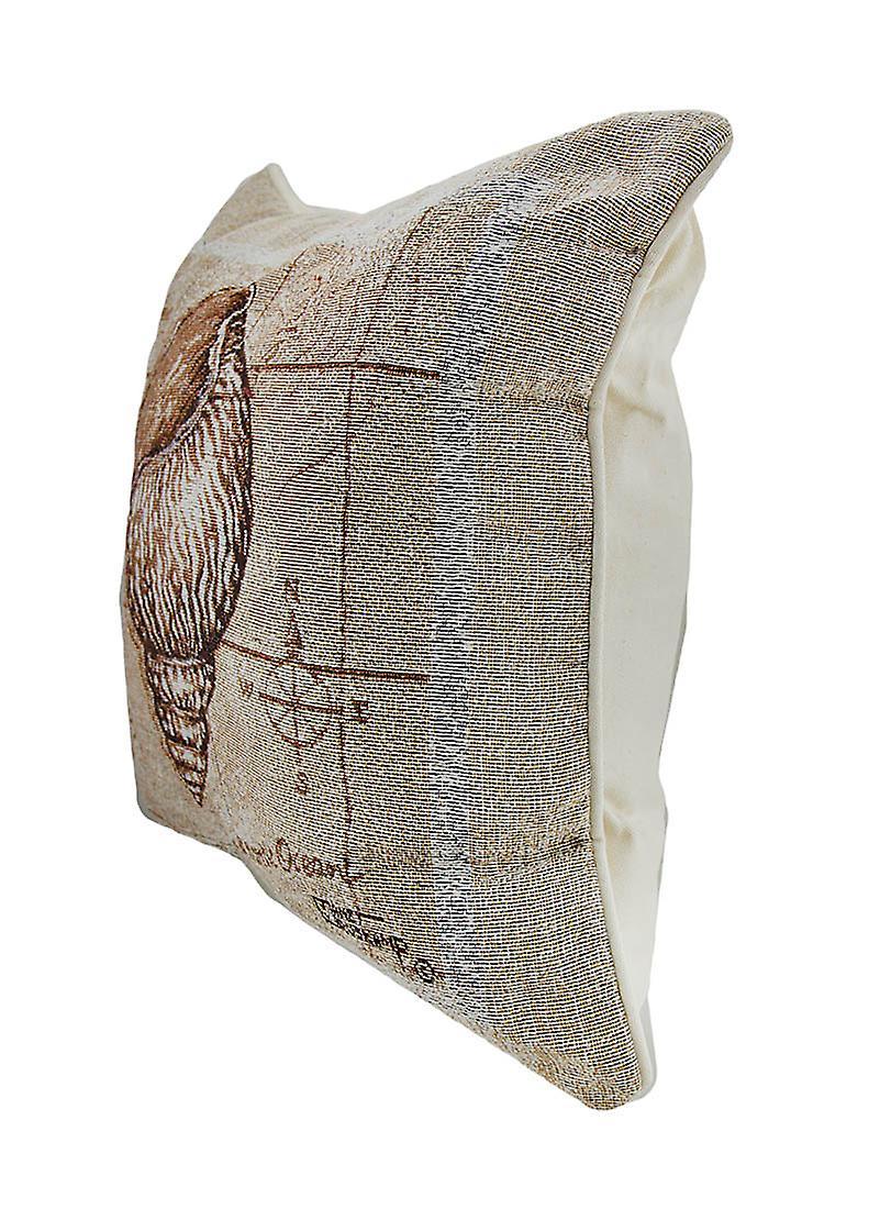 Inch Sea Shell 17 Pillow Throw Triton Tapestry Treasures X knOP0w8NX