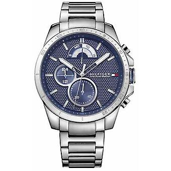 Tommy Hilfiger Mens Stainless Steel Blue Watch Chrono 1791348