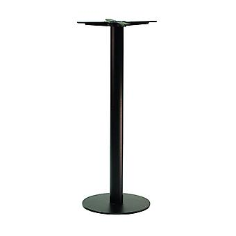 Gorzan Black Poseur Tall Bar Table Base Cast Iron Round Slimline Flat Base