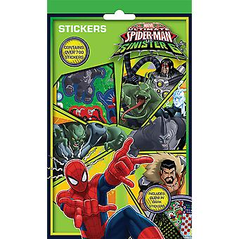 Ultimate Spiderman vs Sinister 6 Characters Set of 700 Stickers 9 Sheets