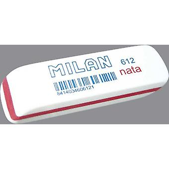 Milan Plastic Box 12 Gomas Nata Bisel (Toys , School Zone , Drawing And Color)