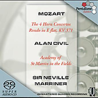 W.a. Mozart - Mozart: De 4 Horn koncerter; Rondo E flade [SACD] USA import