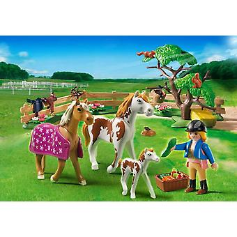 Playmobil 5227 Cuidadora With Horses