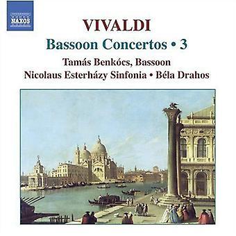 A. Vivaldi - Vivaldi: 3 de concertos pour basson [CD] USA import