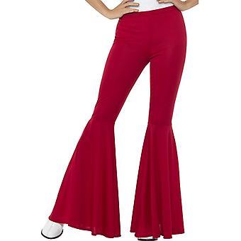 Schlaghose 60iger Jahre Damen Hose für Damen rot