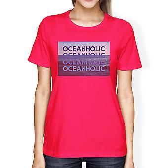 Ocean Holic Womens Short Sleeve Graphic T-Shirt Cotton Round Neck