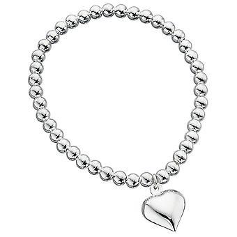 925 Silver Pearl Heart Bracelet