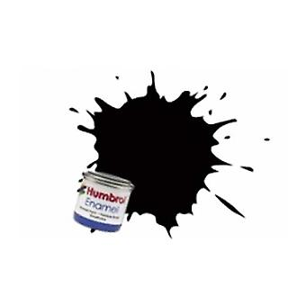 Humbrol Emaille Farbe 14ML Nr. 201 schwarz - Metallic