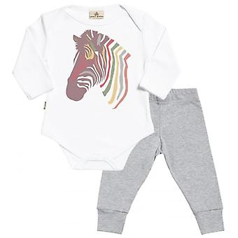 Spoilt Rotten Zebra Babygrow & Jersey Trousers Outfit Set