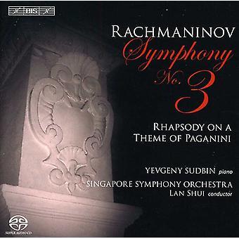 R. Rachmaninov - Rachmaninov: Symphonie n ° 3; Rhapsodie sur un thème de Paganini [SACD] USA import