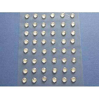 48 Clear Self Adhesive Crystal Drops for Crafts